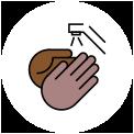 ícone de lavar as mãos